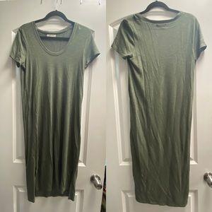 Madewell Green T Shirt Midi Dress